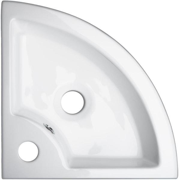tectake Tvättställ hörn keramik Vit