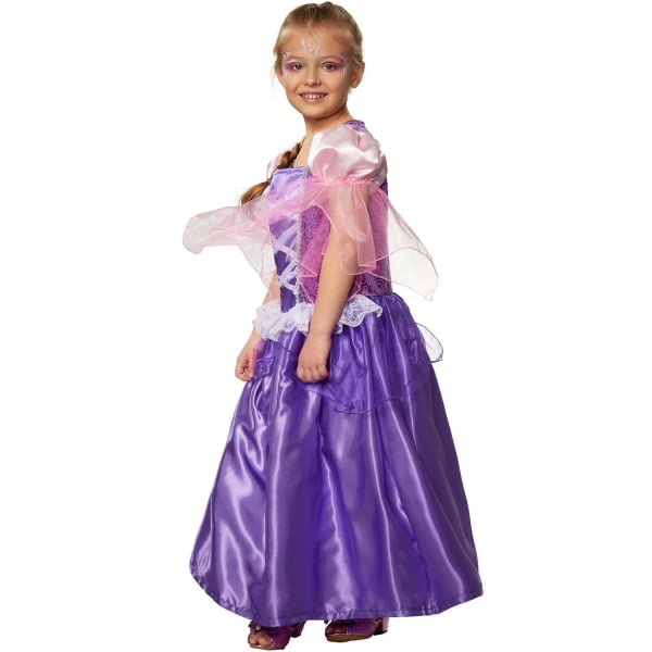 tectake Maskeraddräkt Flicka Prinsessan Viol Purple 116