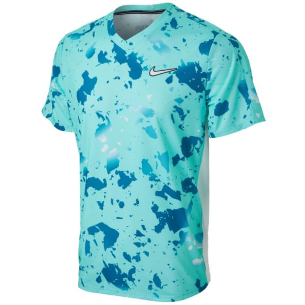 NIKE Court Dri-Fit Victory Tee Turquoise Mens M