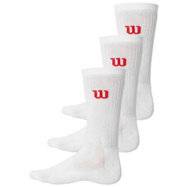 WILSON Crew 3-pack Socks White