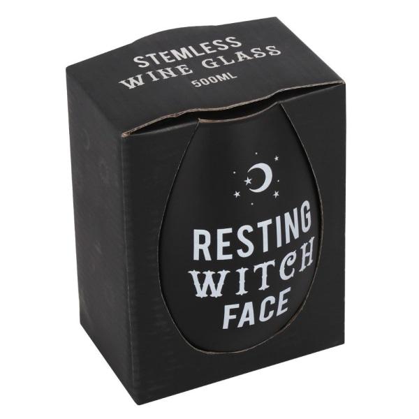 Vinglas RESTING WITCH FACE m förpackning