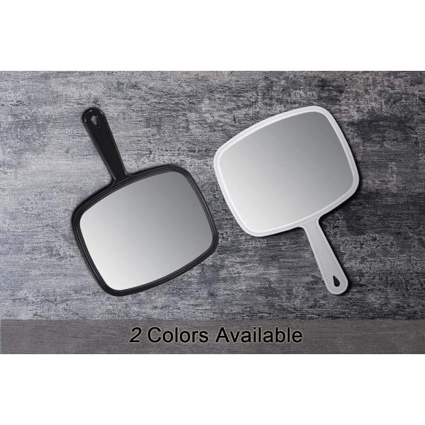 Stor Sminkspegel med handtag - spegel Vit