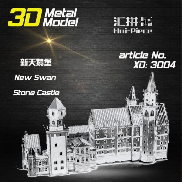 3D Pussel Metall - Exklusiv 3 Ark - Berömda Byggnader -New Swan