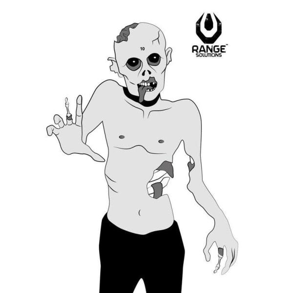 RANGE LØSNINGER - PAPIRMÅL - 50 STK - zombie skydning Targe