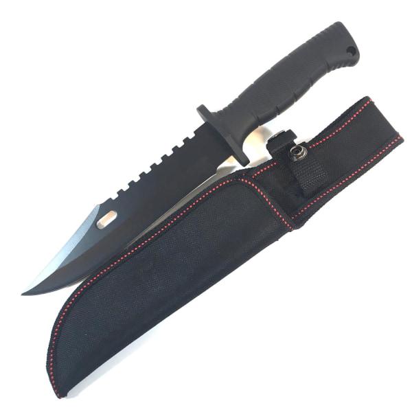 Kniv - jaktkniv 30cm Svart