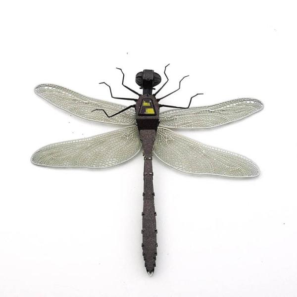 3D Pussel Metall - kända djur - Slända - Dragonfly Färg