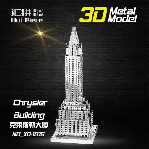 3D Pussel Metall - Berömda Byggnader - Chrysler Building