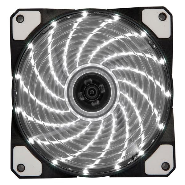 120mm PC-dator 16dB Ultra Silent 15 LEDs Fläkt White