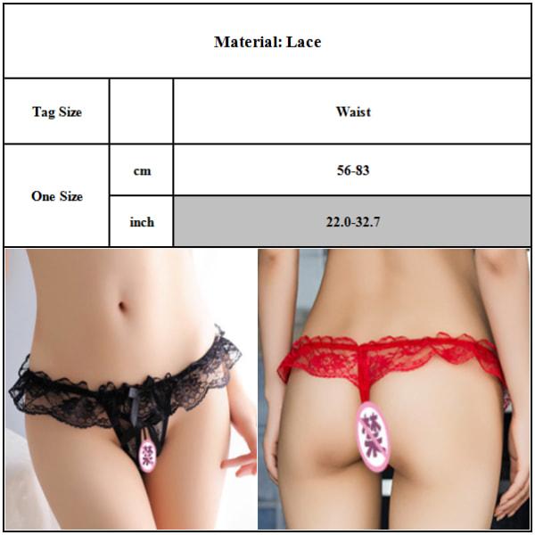 Kvinnors sexiga stringtrosor med låg midja för alla hjärtans daggåvor Red One size