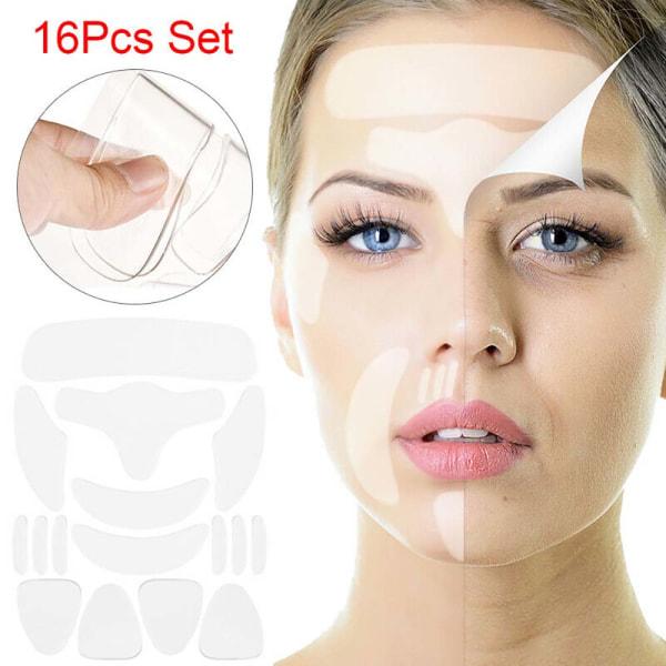 16PCS Silikon Anti-wrinkle Patch för Face Hudvård