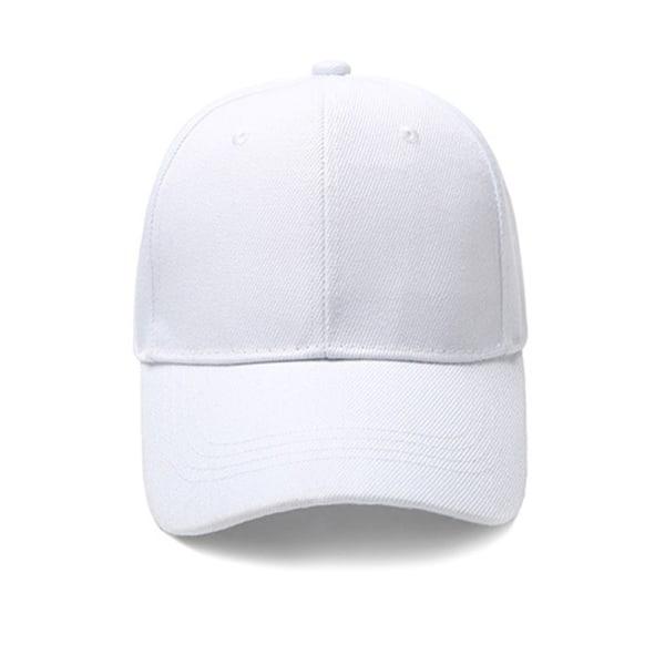 Snygga böjda kantkepsar i enfärgad utesport för alla matcher White