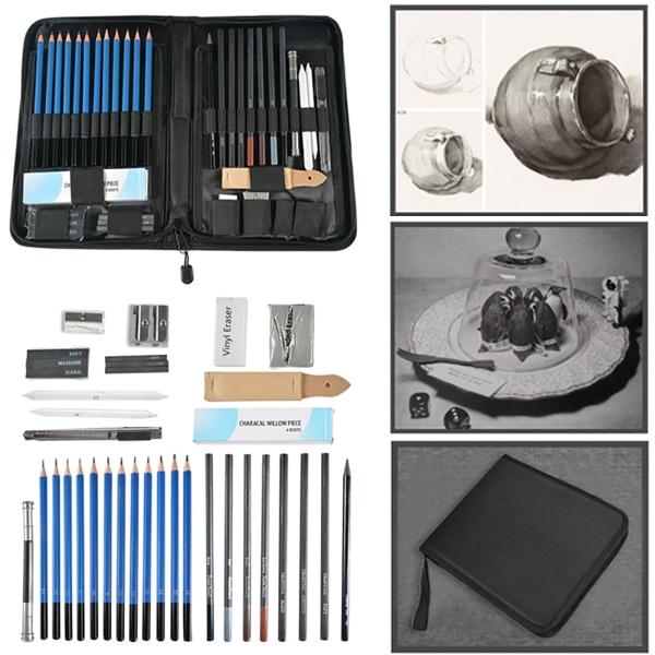 40PCS Professional Sketching Drawing Set Art Supplies Drawing 40PCS