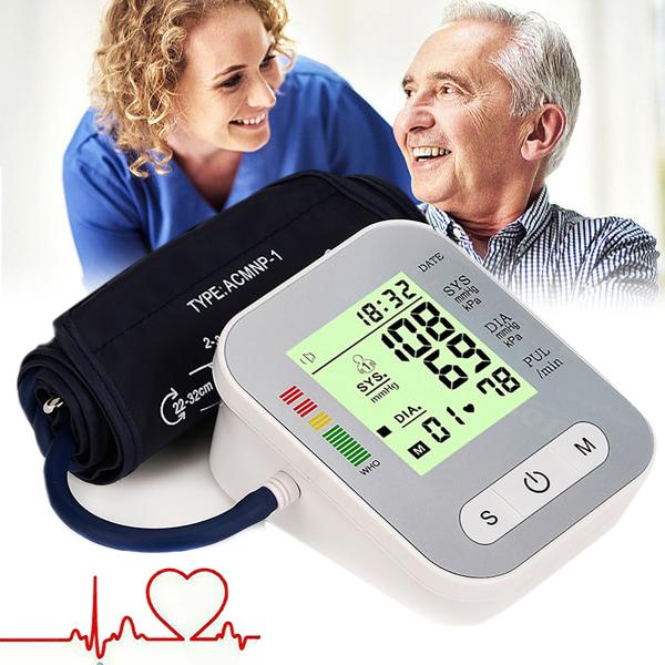 Bärbar digital överarms blodtrycksmätare