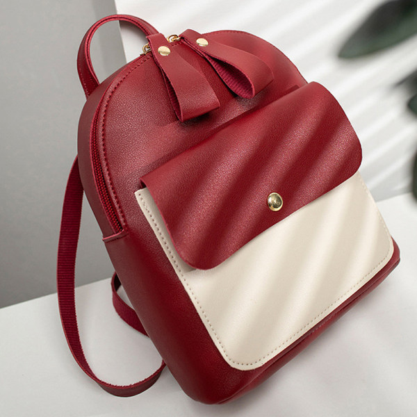 Flickor lapptäcke mode söt mini ryggsäck handväska Black