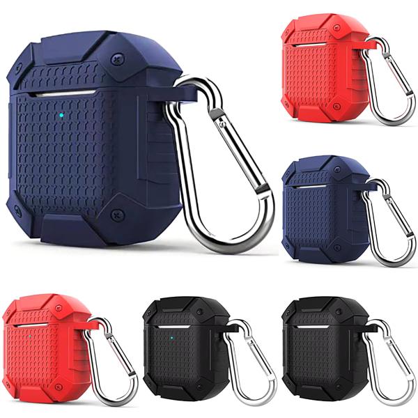 Airpods 2 Generation Armor Headset Set Väska Skyddbar hörlurar Red