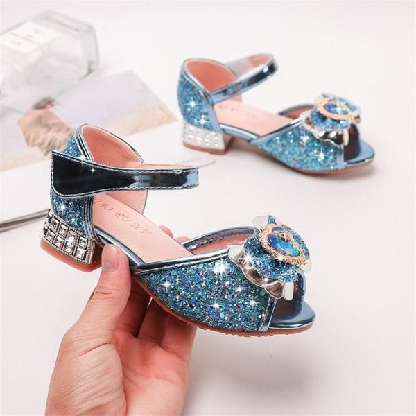 Flickor Sommarsandaler Frozen 2 Fish Mouth Princess Aisha Shoes Blue 28