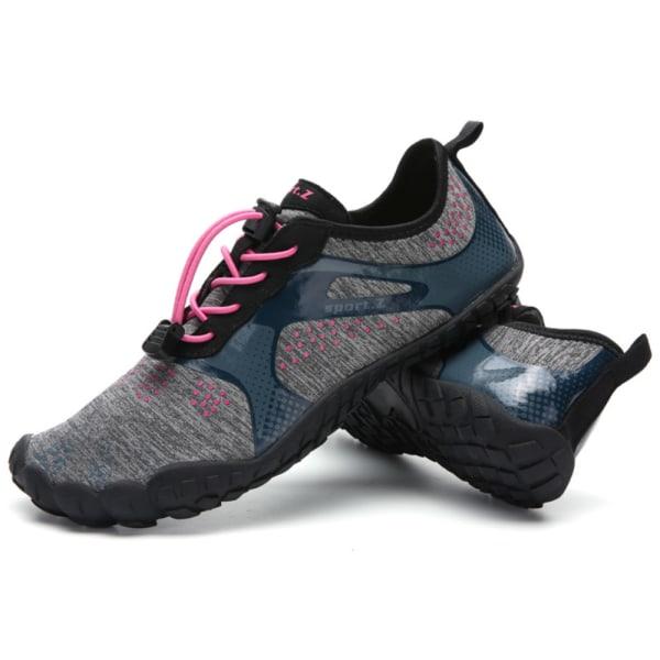 Bandage Snabbtorkande vattenskor för Beach Swim Surf Yoga-träning Gray-pink 38