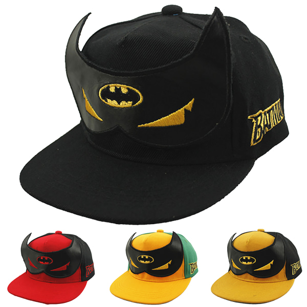 Barnpresenter Sun Bat Hats Canvas andas Justerbar Black