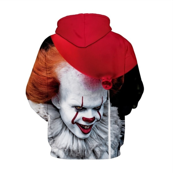 Julblus Clown Mordiska 3D Digital Printing red&white 3XL