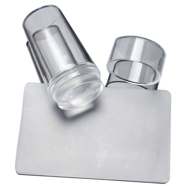Clear Nail Art Stamping Transfer Plate Manicure Tool Kit