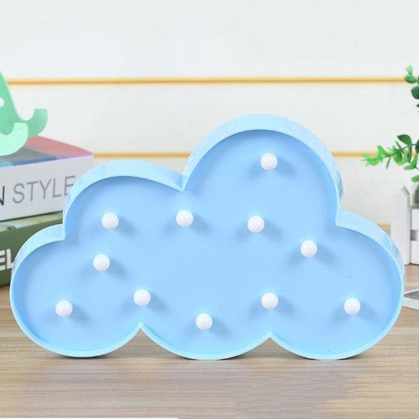 Cloud LED Night Light Home Creative Bordslampa Barngåvor Blue