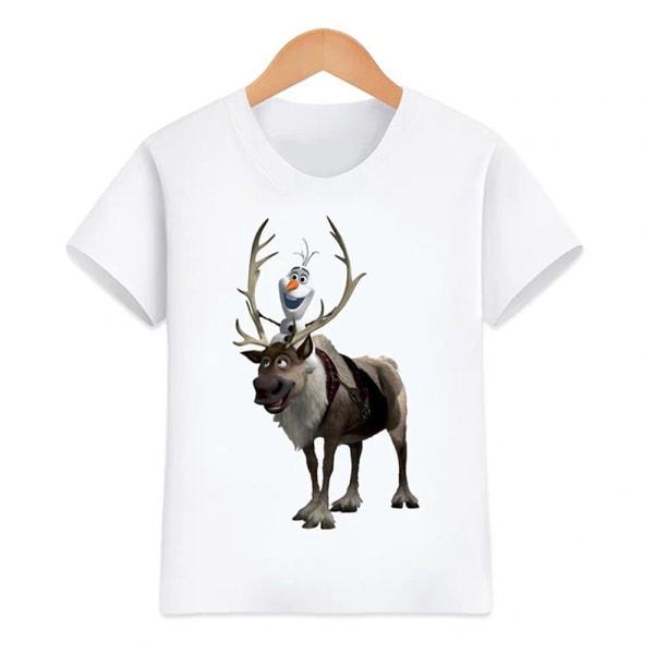 Essentials Kortärmade t-shirts för flickor Enkel och mångsidig As pics 120CM