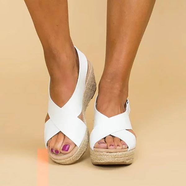 Mode kvinnor Cross Platform romerska sandaler brown 39