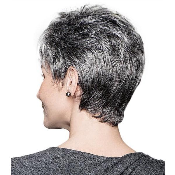 Fashionabla damer Gradient grå korta peruker andas mjukt Gradient gray