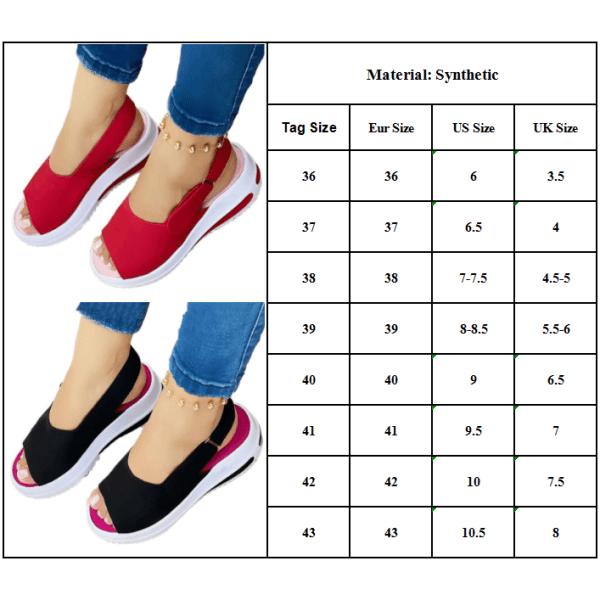 Fashionabla kvinnans fiskmunnen platta skor sandaler för sommaren Black 40