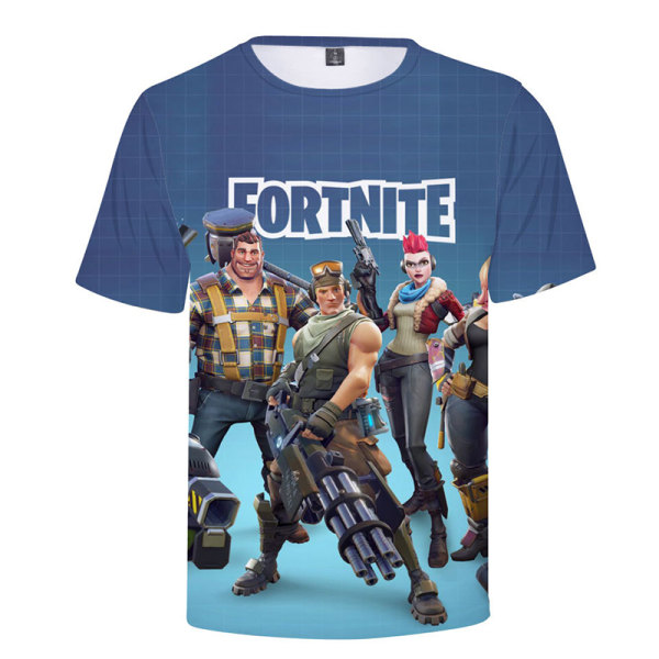 FORTNITE Casual T-shirt Unisex 3D-Printed Fitness Top Shooters Shooters 3XL
