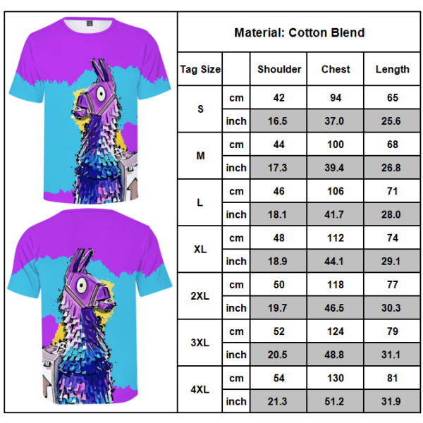 FORTNITE Casual T-shirt Unisex 3D-Printed Fitness Top Bottle Bottle 2XL