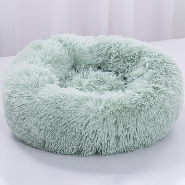 Fullt stödd lyxig soffa rund plysch hund sängkudde green 60cm