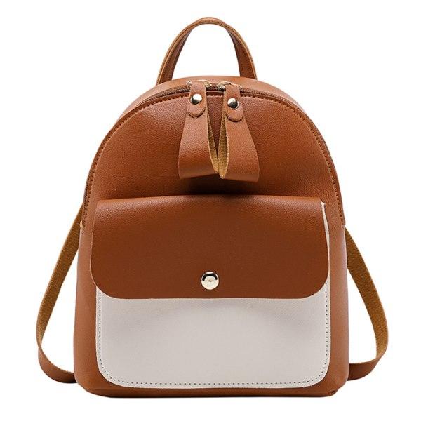 Flickor lapptäcke mode söt mini ryggsäck handväska Red