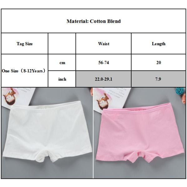 Flickor Boxershorts i enfärg Mjuka och andningsbara underkläder Pink One size