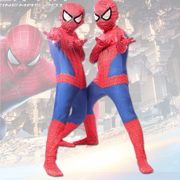 Halloween Cosplay Jumpsuit Superhero Costume Bodysuit For Kids As pics 90-100