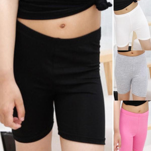 Hög elastiskhet Enfärgade leggings säkerhetsbyxor för klänning Pink 140CM