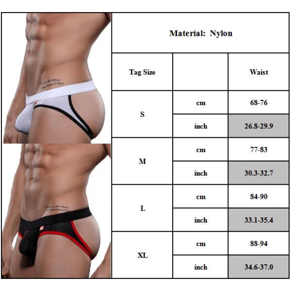 Startsida Herr Stora påse Thong Underkläder Sexiga Low Rise Bulge trosor Rose red L