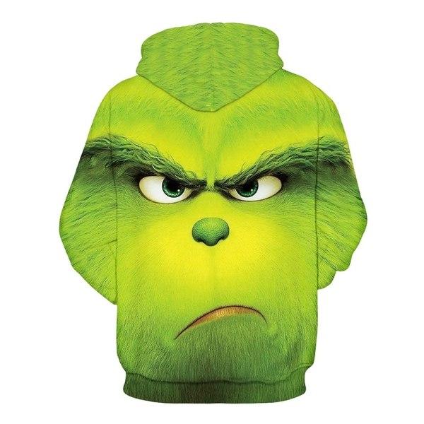 Kvinnors barn The Grinch Hoodie Sweatshirt Jumper Coat green 2XL