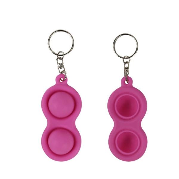Barn vuxna dekompression nyckelring sensorisk leksak fritid docka Pink