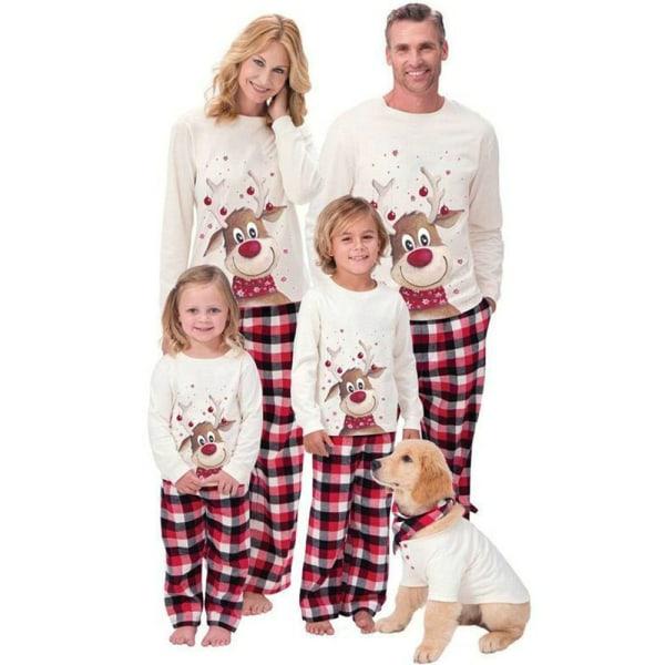 Barn män kvinnor familj matchande jul sömnkläder pyjamas Set Kid 5T