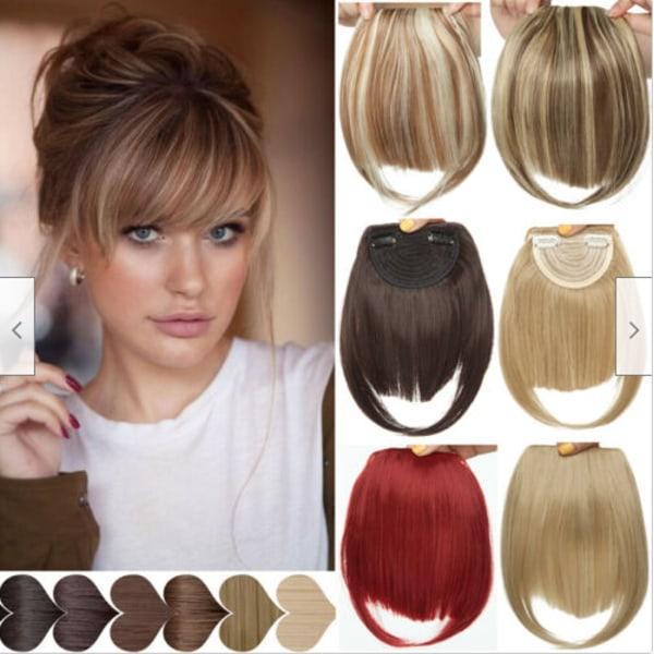 Ladies Girls Bangs Hair Piece Mode Peruk Dekoration Realistisk F14-613
