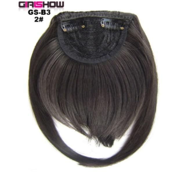 Ladies Girls Bangs Hair Piece Mode Peruk Dekoration Realistisk 2#