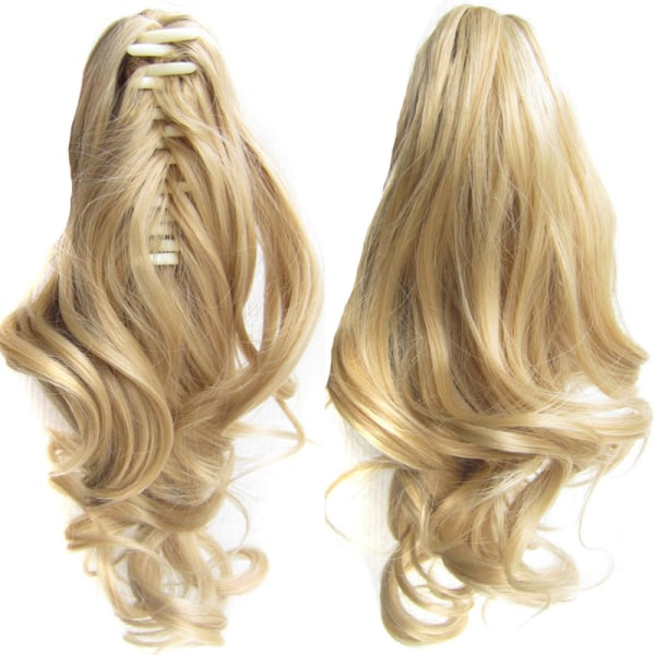 Ladies Natural Ponytails Claw Clip in Hair Extensions Hairpiece 27-613M