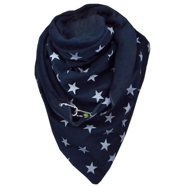 Dam halsduk tryckt höst mjuk värme tjock sjal halsdukar Paperclip