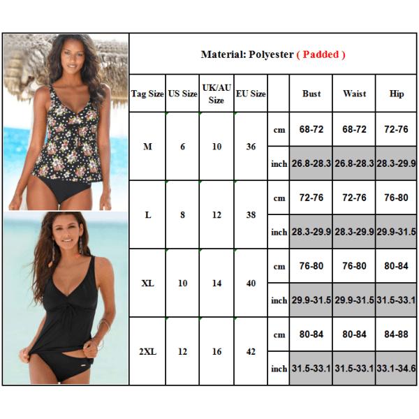 Ladies Summer Seaside Vacation Split Baddräkt Sexiga Bikini-kostymer Blue wave point XL