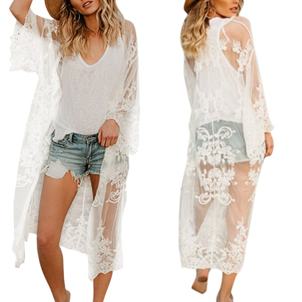 Ladies Temperament Beach Cardigan Chain Link Blus andas As pic One size