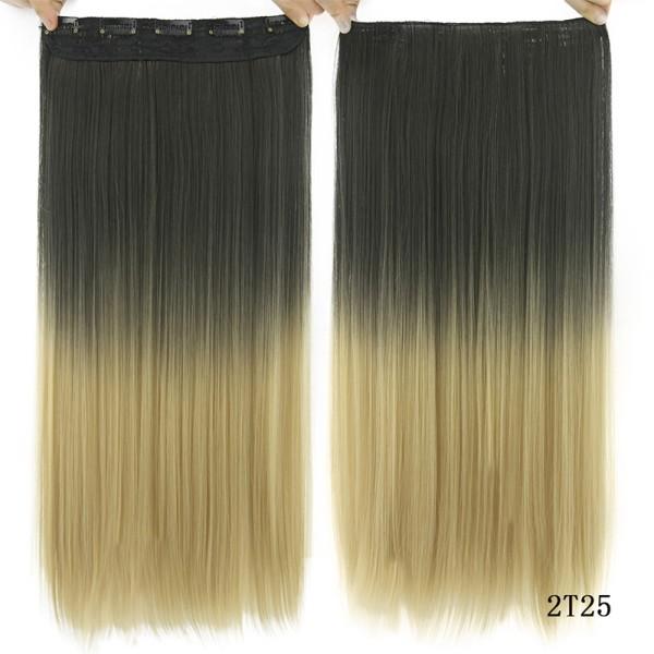 Lång rak klämma i syntetiskt hårförlängning As pics-2T25