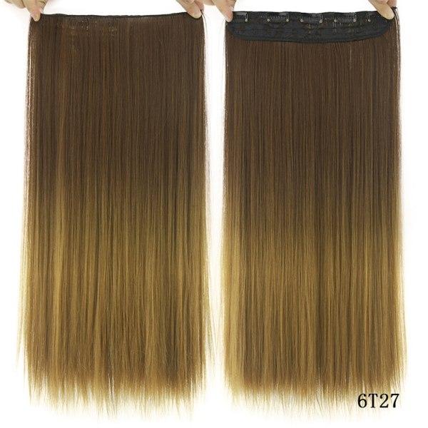 Lång rak klämma i syntetiskt hårförlängning As pics-6T27