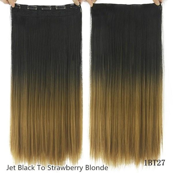 Lång rak klämma i syntetiskt hårförlängning As pics-8T25