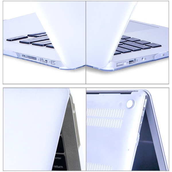 """Macbook Pro 13,3 """"Frostat skal i enfärgad slitage Matte white"""